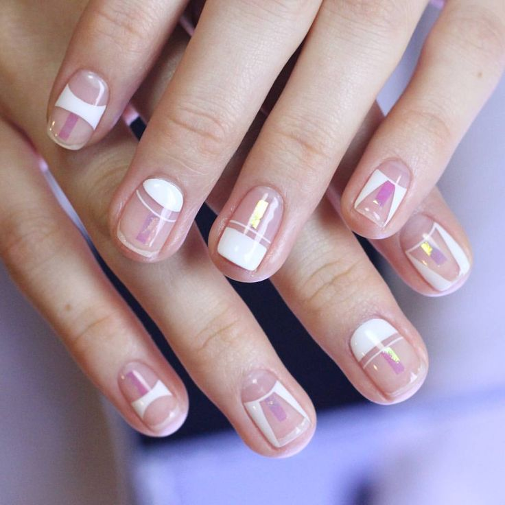 Negative space nail art is just awesome.