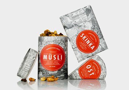 Middagsfried food packaging