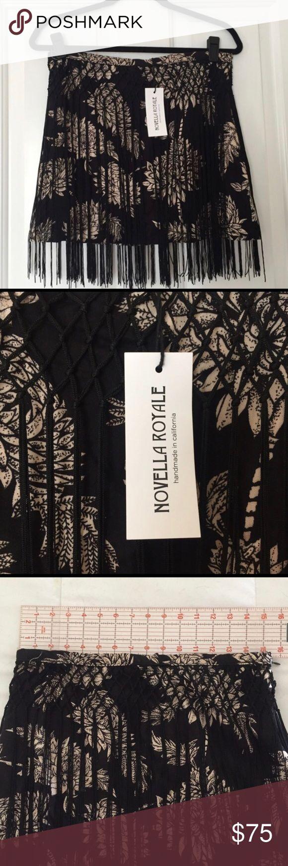 Novella Royale Fringe Skirt Brand new, never worn. Skirt is 15 inches in length, Fringe is 18 inches in length. Novella Royale Skirts Mini
