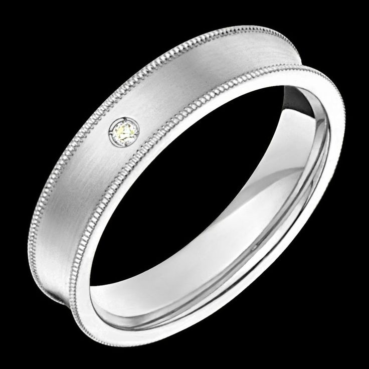 5mm wide comfort fit 10k white gold concave solid not