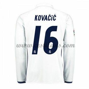 Real Madrid Fotbalové Dresy 2016-17 Kovacic 16 Domáci Dres Dlouhým Rukávem