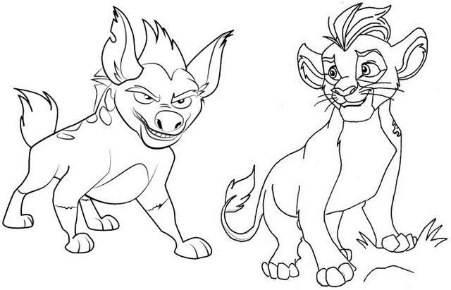 Kion And Janja Coloring Page Of The Lion Guard Bilder