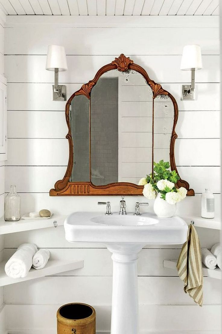 Awesome Country Mirror Bathroom Decor Ideas 399