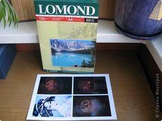 """Очень много в личке было вопросов по распечаткам...Вот, все что мне известно - рассказываю. Для у дачного декупажа лучше использовать фотобумагу, например """"Lomond"""" плотность от 110 до 180 г/кв.м, продается в любом отделе с компьютерами и фотопринадлежностями, стоит 290 руб. 50 листов. фото 1"""