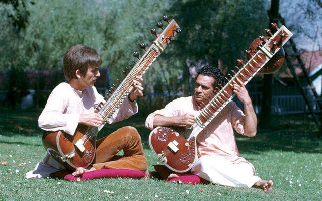 Resultado de imagen de ravi shankar with george harrison