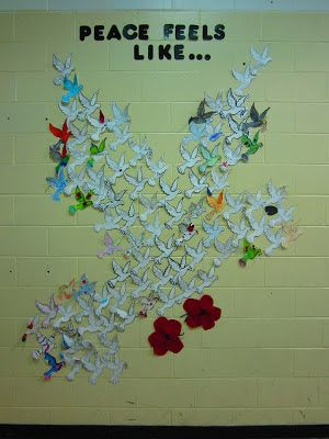 Runde's Room: Lest We Forget. ANZAC Day craft for kids. School activity. Bird of peace classroom craft idea.