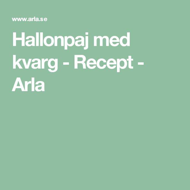 Hallonpaj med kvarg - Recept - Arla