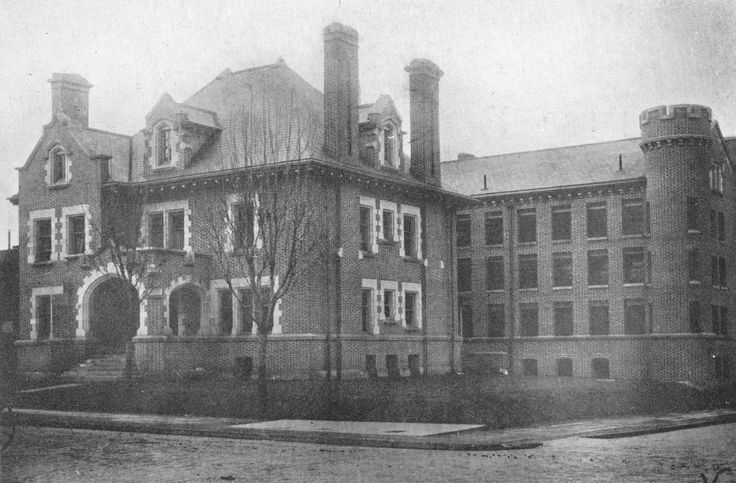 The old jail in Marion Indiana, reputedly haunted.  Site of shameful lynching in the 1930's...