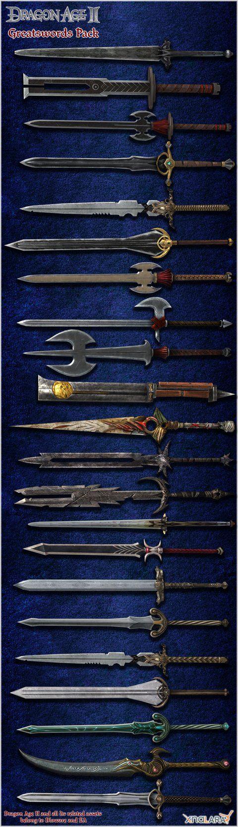 Dragon Age II: Greatswords Model Pack by Berserker79 on DeviantArt