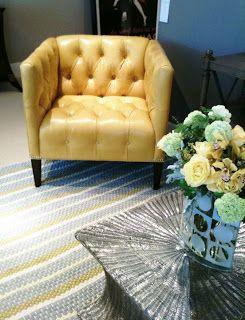 Front Door Fabrics: Best Yellow Chair!!