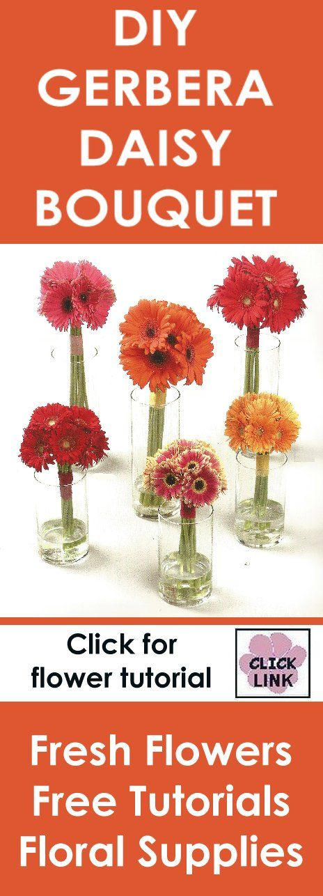 http://www.wedding-flowers-and-reception-ideas.com/how-to-make-a-wedding-bouquet-gerbera-daisies.html  Step by step instruction video for making a wedding bouquet using Gerbera Daisies.