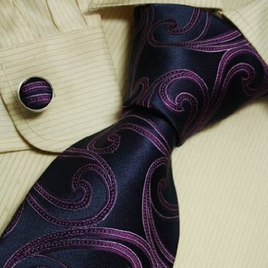 perfect tie for the groomsmen at our purple and navy wedding ! http://www.amazon.com/H5086-Purple-Pattern-Perfect-Cufflinks/dp/B003FEMH6S