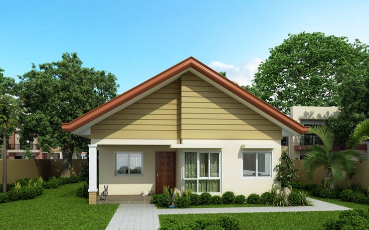 Alexa simple bungalow house pinoy eplans modern for Normal house front design