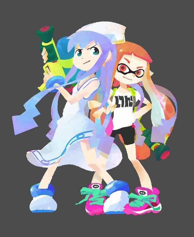 Squid Girl Teams Up with Splatoon Inkling - Interest - Anime News Network