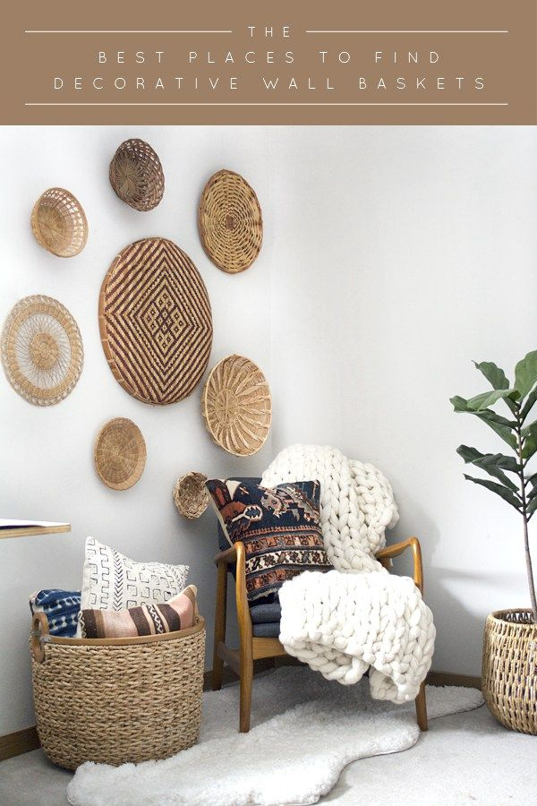 Round baskets wall decor : Best ideas about wall basket on hanging
