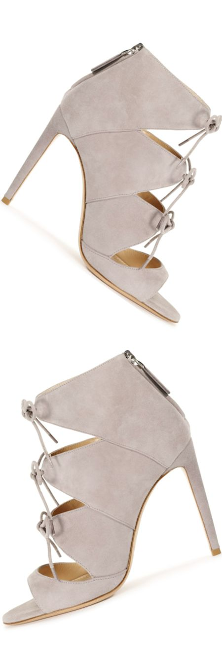 Ralph Lauren Collection Suede Bletisa Sandal (stunning suede cutout sandal with peep-toe silhouette) LOOKandLOVEwithLOLO: Ralph Lauren Fall 2014 Accessories
