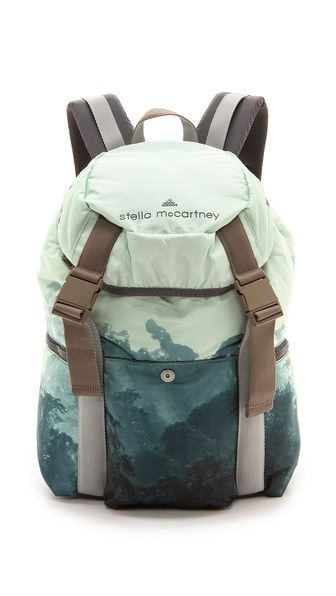 Adidas by Stella McCartney Weekend Backpack - photo realism all over print - very cool!