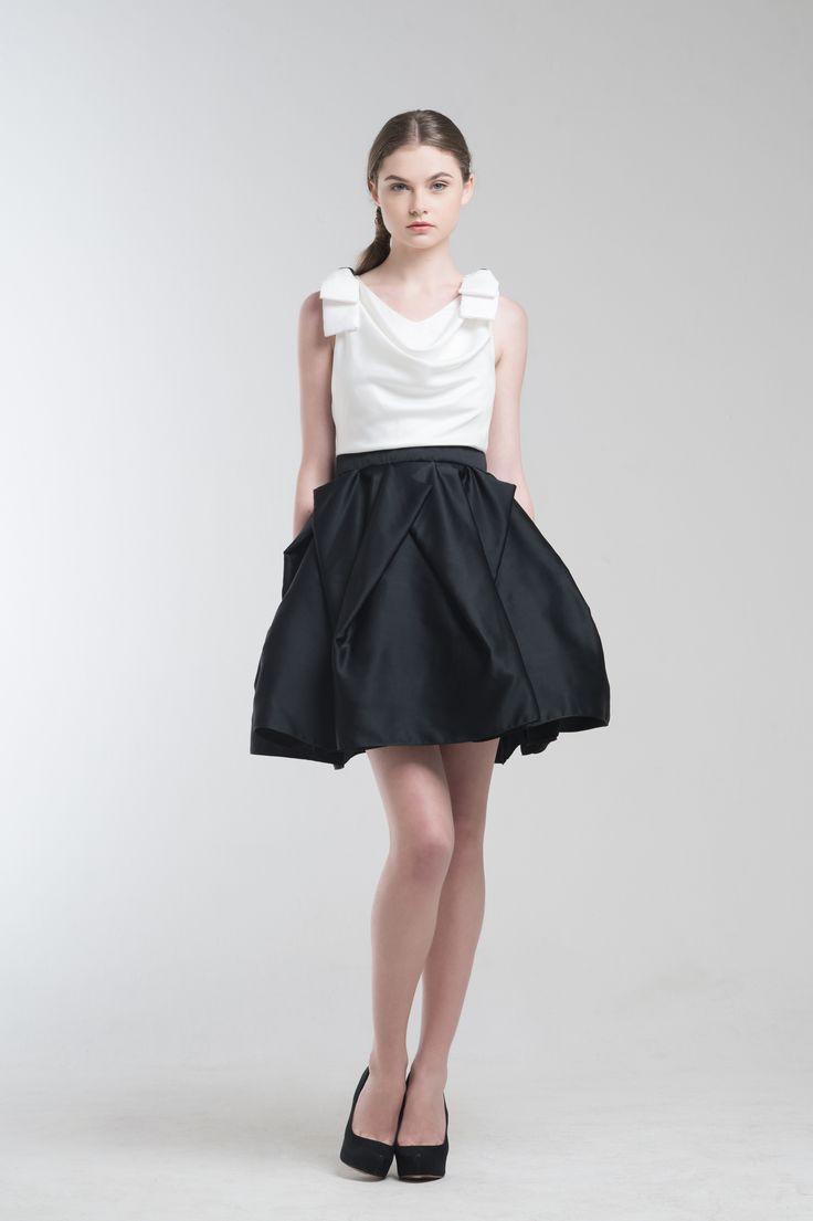 Hillary Dress in White from Jolie Clothing  #JolieClothing www.jolie-clothing.com  #Fashion #designer #jolie #Charity #foundation #World #vision #indonesia  #online #shop #stefanitan #fannytjandra #blogger