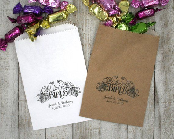 Personalized Favor Bags 20 Kraft Gift Bags For Wedding Shower
