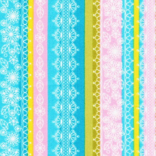Whimsical stripe from Ro Gregg's Peggy Sue fabric collection for Paintbrush Studio.