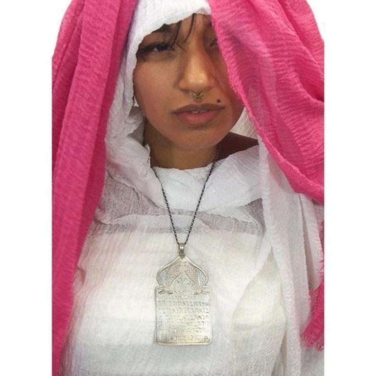 Morocco silver talisman judaica amulet known as louha