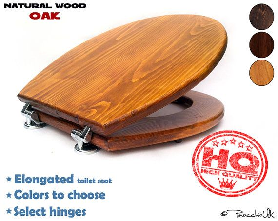 Elongated wood toilet seat (3 colors to choose)    Wooden toilet, Soft close, Slow close, Rustic toilet seat for your bathroom