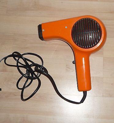 Cooler Fön ca. 70er Jahre funktioniert Orange Kult Rockabilly