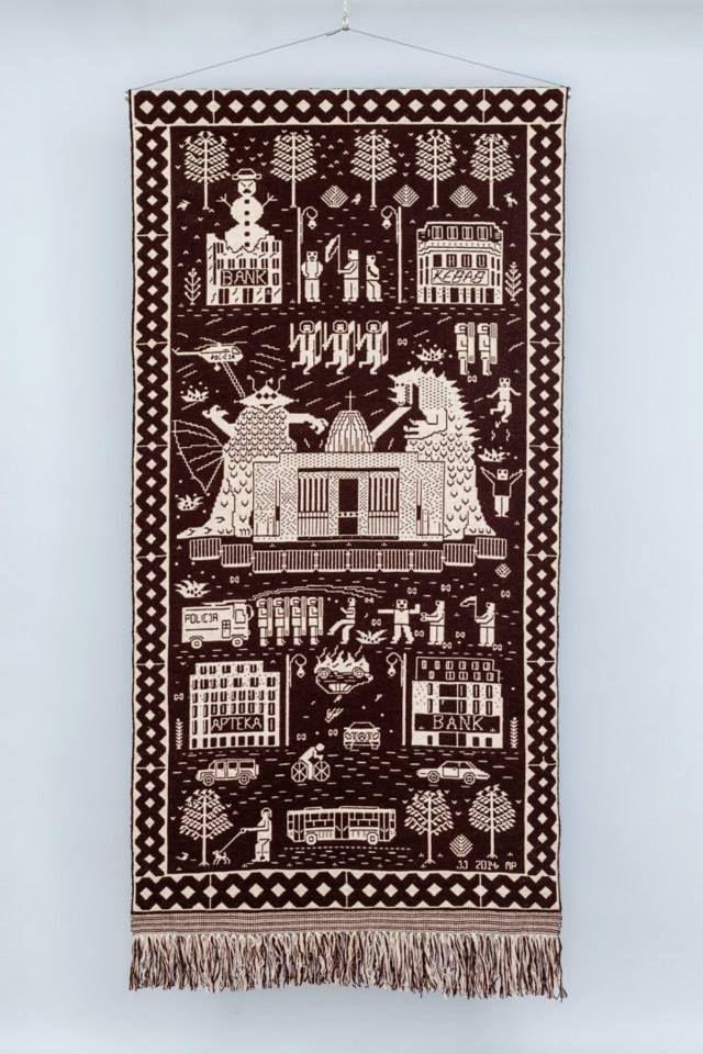 Double-thread tapestry, design Jakub Jezierski, maker Małgorzata Pepłowska, 110 x 210 cm, 2014