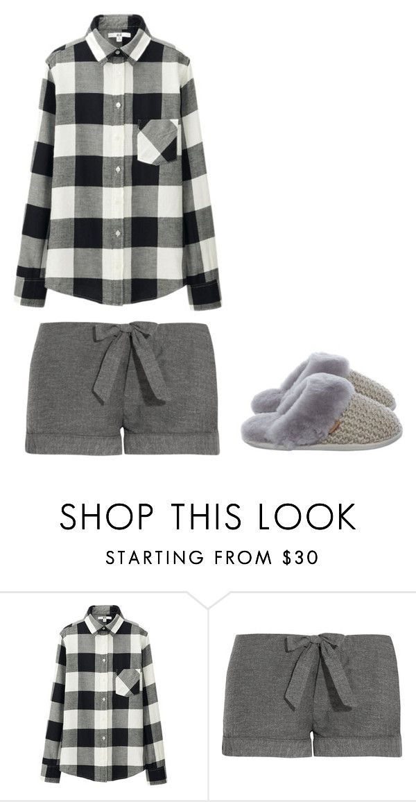 """""""Sleepwear for Cameron [home]"""" by fergusroderickmacleod on Polyvore featuring Uniqlo, Bodas, Just Sheepskin, harrypotter, sleep, OC and spn"""