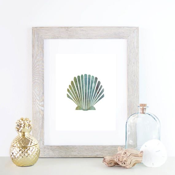 This scallop seashell print with a faded watercolor background is the perfect addition to any home, nursery or office! Stop waiting for shipping – these files are ready to download immediately! What's so great about digital prints? Well, there's no need to wait days for the mail to come – all files are available once your payment has cleared. That means you save time and money on shipping! /////////////////...
