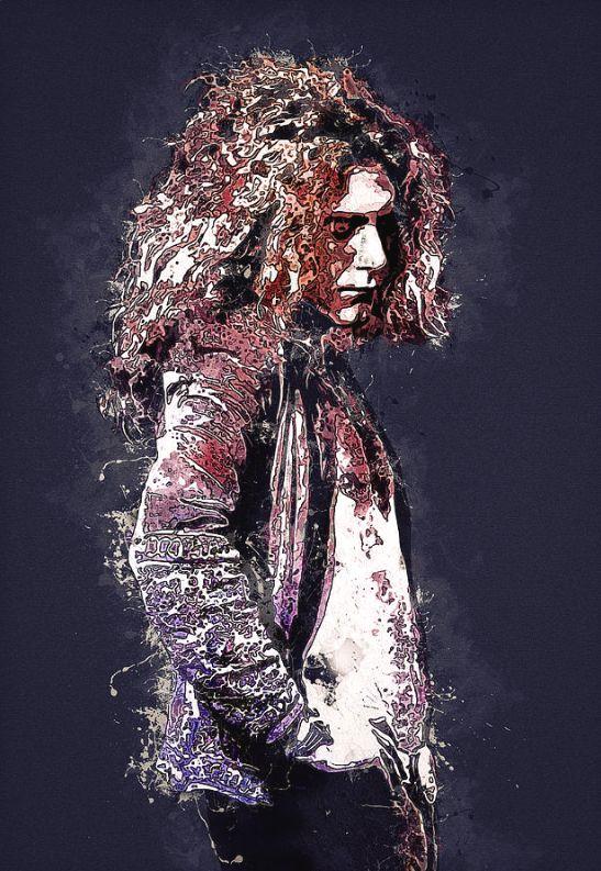 Led Zeppelin. Robert Plant. is a piece of digital artwork by Best Actors .