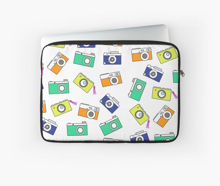 Retro Camera by Linecircle Co #laptop #mac #macbook #sleeve #case #skin #camera #pattern #redbubble #linecircle #LinecircleStationary