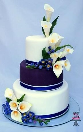 Wedding cake calla lily and freesia just use a more peach and add gold and burgundy