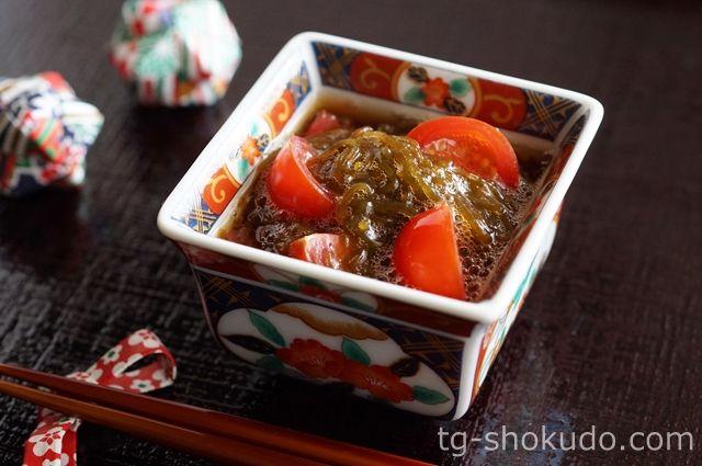 ミニトマト入りもずく酢【中性脂肪を下げる副菜のレシピ】