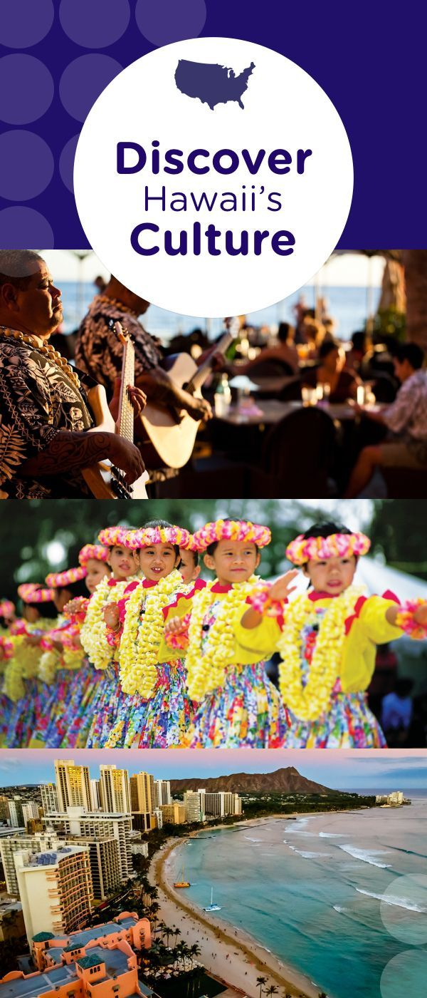 Discover Hawaii's sprit of Aloha through the language, music, art, theatre, dance and cuisine of this tropical paradise. Hawaii's warm culture comes alive with annual parades, street parties, food and craft fairs, concerts and cultural family activities.