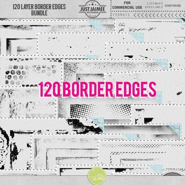 120 Layer Border Edges Bundle {CU commercial use}