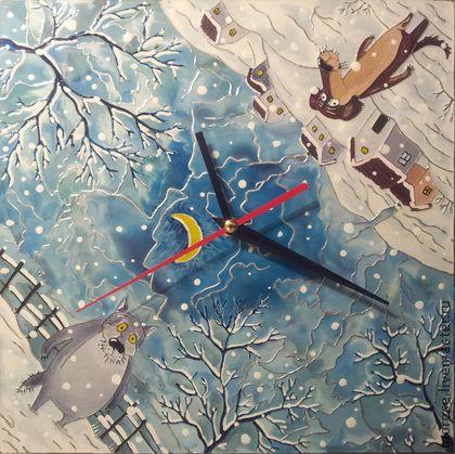 "Часы для дома ручной работы. Ярмарка Мастеров - ручная работа Часы ""Жил-был пес"". Handmade."
