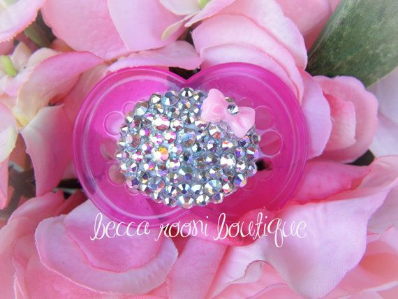 Hey, I found this really awesome Etsy listing at https://www.etsy.com/listing/159464341/baby-bling-pacifier-rhinestone-binky