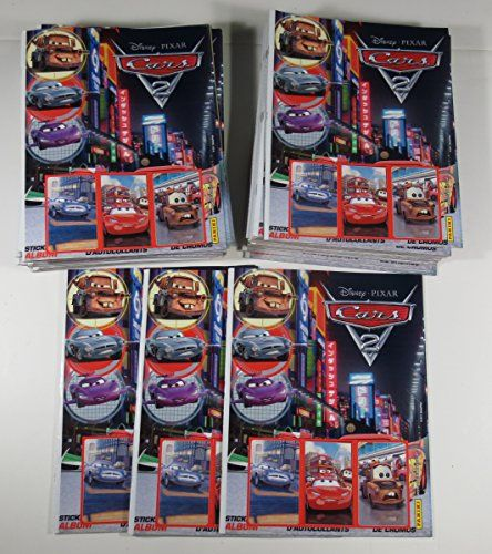 Lot (36) 2011 Disney/Pixar CARS 2 Panini Sticker Album  Mater Lightning Dinoco @ niftywarehouse.com #NiftyWarehouse #Disney #DisneyMovies #Animated #Film #DisneyFilms #DisneyCartoons #Kids #Cartoons
