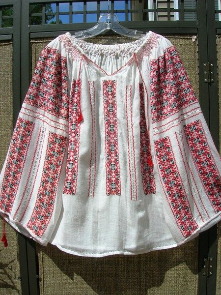 Totally me with long skirt and boots or jeans, boots and ponytail. A long-time favourite of mine - the peasant blouse, this one from Romania.