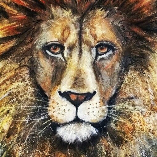 'Leo' watercolour and pastel painting by Corinne Dany