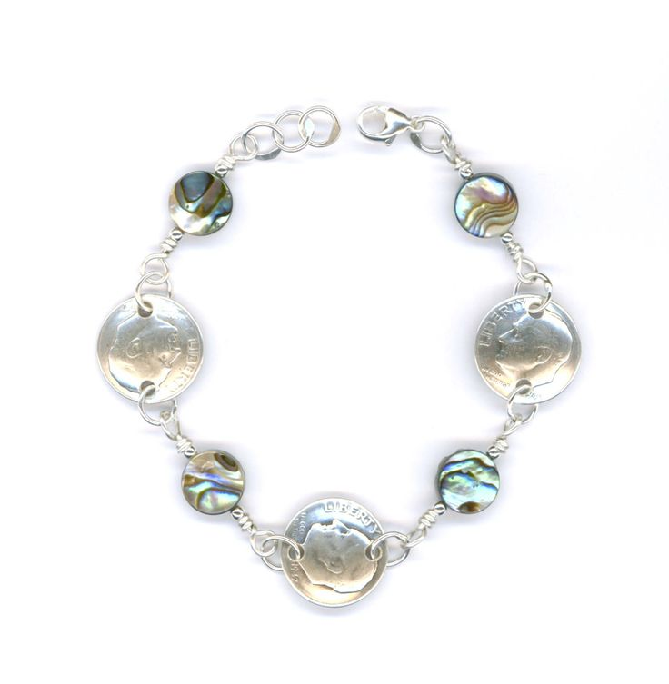 70th Birthday Gift for Women 1947 Dime Coin Paua Shell Bracelet 70th Birthday Gift Ideas Jewelry 65th Gift for Women Gift for Grandmother by WvWorksJewelry on Etsy