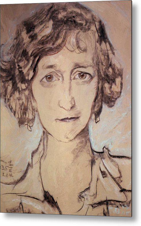 portrait of zofia romer 1935 metal print by witkiewicz stanislaw