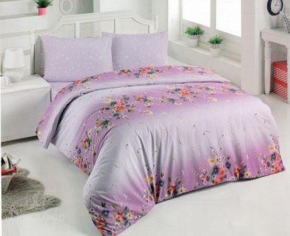 Купить постельное белье из ранфорса BRIELLE FUCHSIA LOVE фуксия 1,5-сп от производителя Brielle (Турция)
