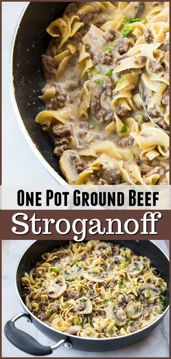 This One Pot Rich Creamy Ground Beef Stroganoff Has A Secret Ingredient That Makes This The Best Beef Recipes Easy Ground Beef Stroganoff Beef Pasta Recipes