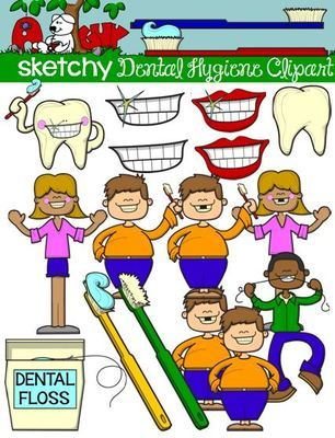 Dental Hygiene Kids and Items Clipart / Graphics from Sketchy Guy on TeachersNotebook.com - (54 pages) - Dental Hygiene Kids and Items Clipart / Graphics Dental Hygiene Kids and Items Clip art / Graphic Included are 18 Color, 18 Grayscale, and 18 black & white PNG/Transparent Clipart.