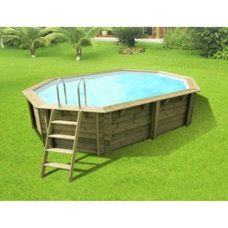 1682 best Piscines hors sol, jacuzzis, spas images on Pinterest - piscine hors sol beton aspect bois