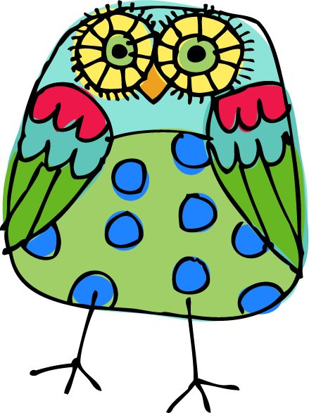 Okay, this is from a teaching blog, (which I can definitely read), but I thought this was a cute owl...