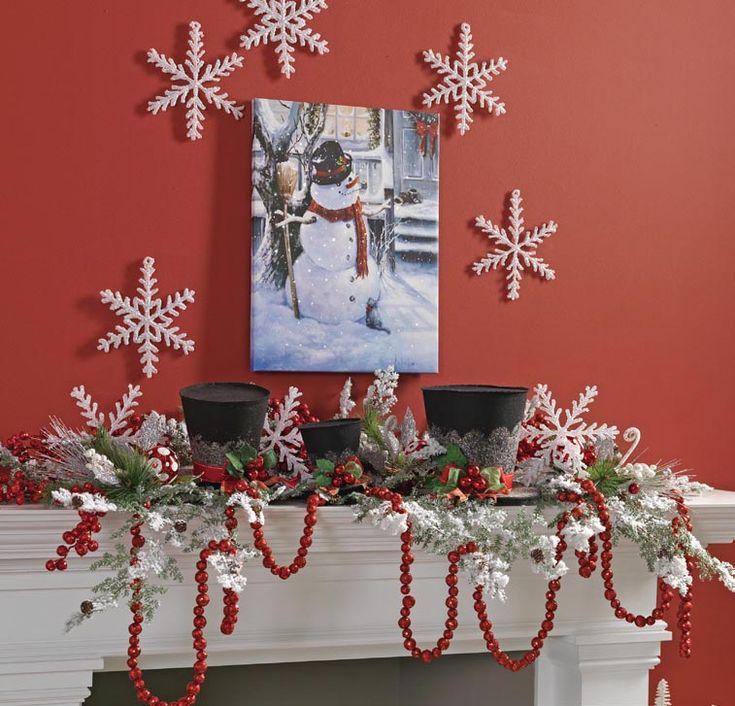 mantle christmas decorating idea