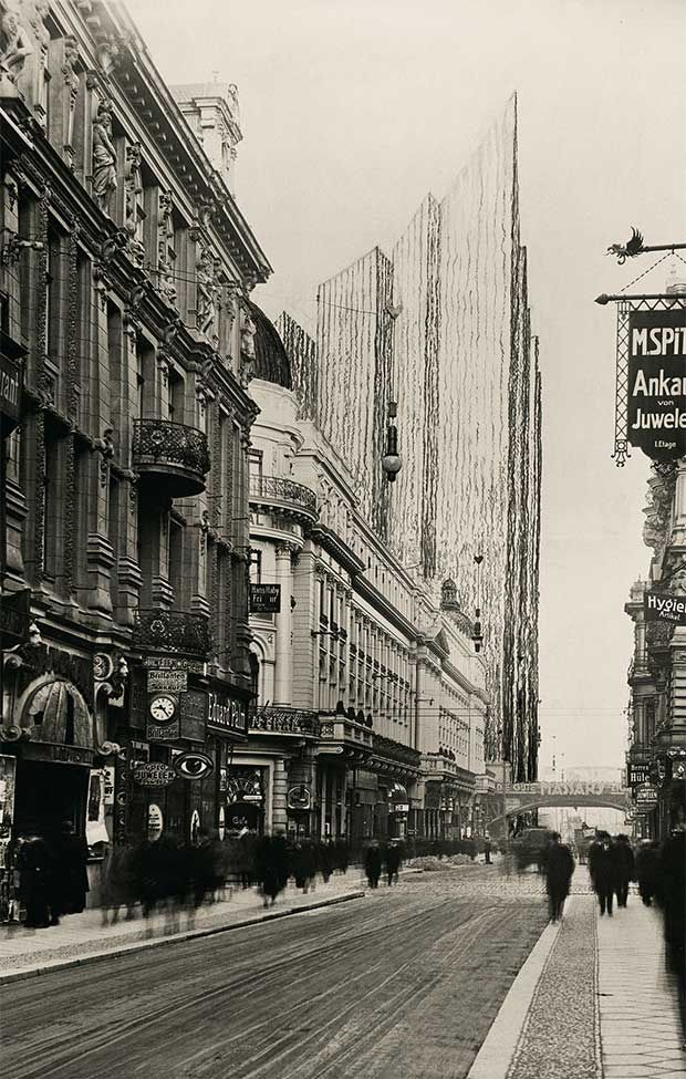 Freidrichstrasse Skyscraper Project 1921 ; honeycomb version - Mies van der Rohe